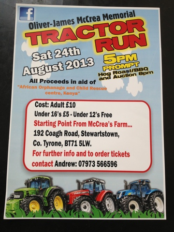 Charity Tractor Run - Saturday 24th August