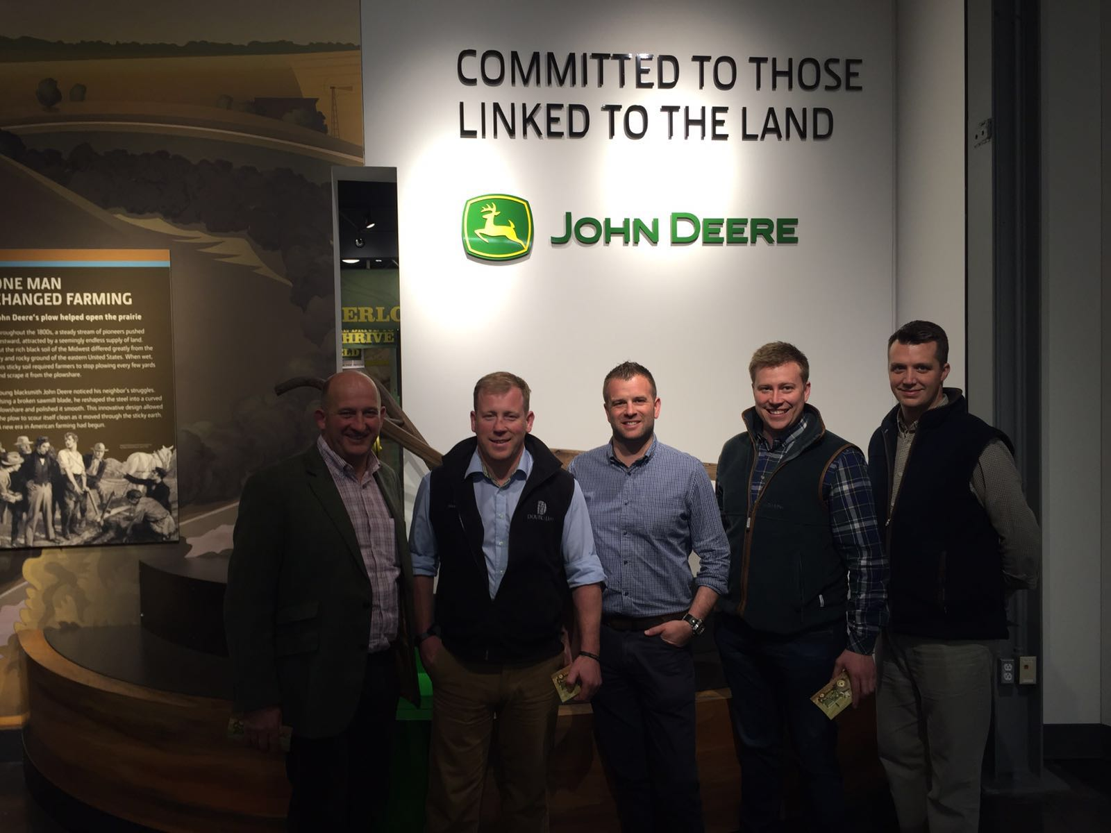 Doubleday team visit John Deere HQ and factory in the USA
