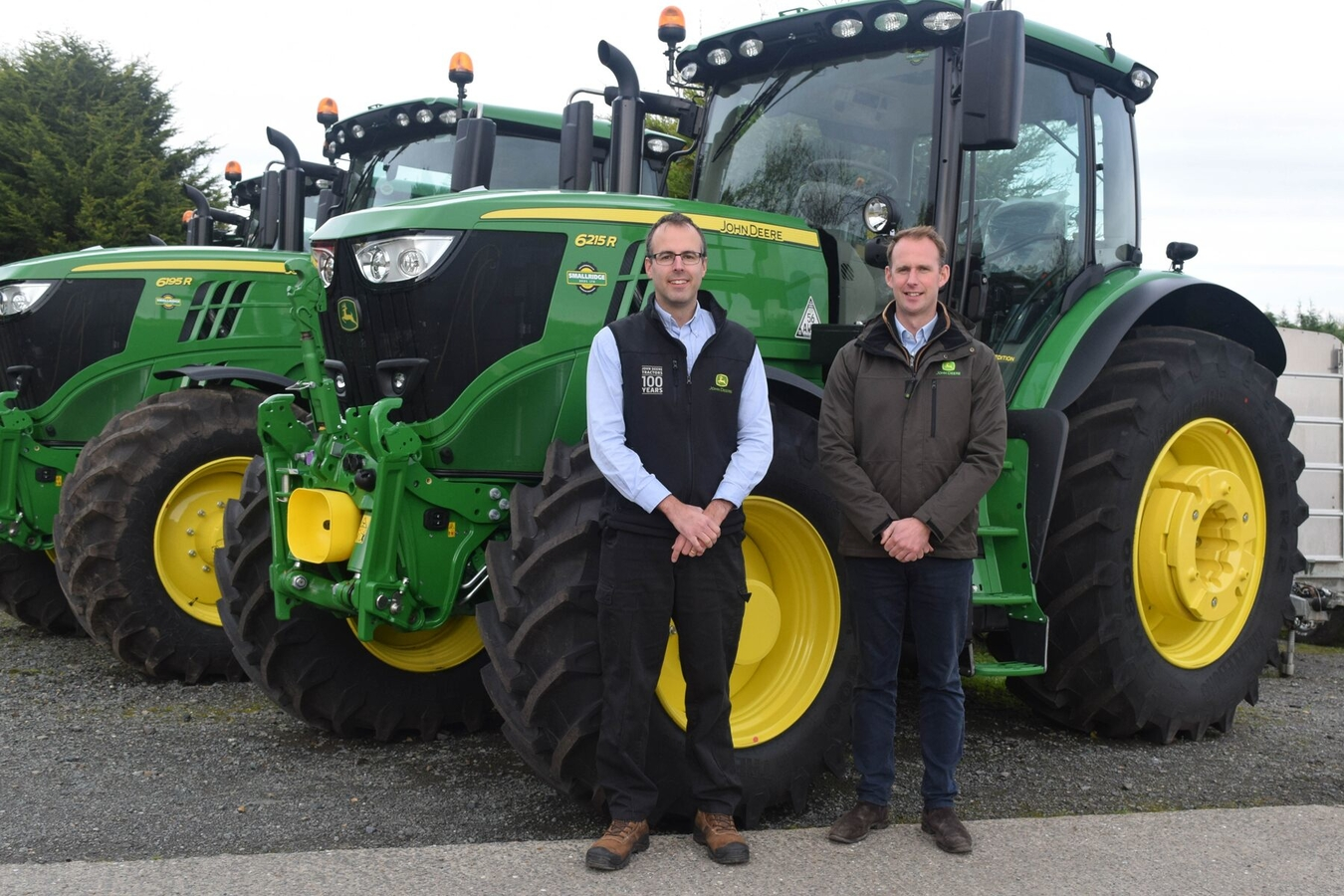 Dealer principal Simon Smallridge (left) and group sales manager Jason Toogood of John Deere agricultural dealership Smallridge Bros.
