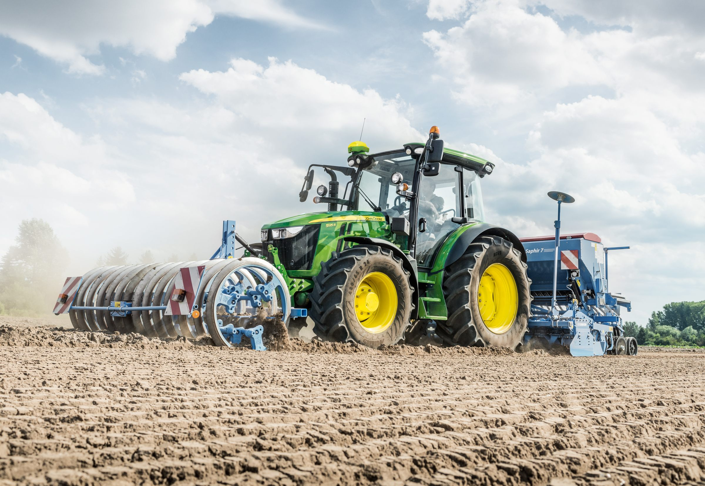 John Deere's updated 5R Series tractors will be available AutoTrac and ISObus-ready for 2019.