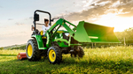 John Deere's new 3038E compact tractor is an economical and versatile machine suitable for a wide range of customers.