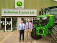 Managing director Harry Barclay (left) and general manager Garry Smith of John Deere dealership Netherton Tractors.