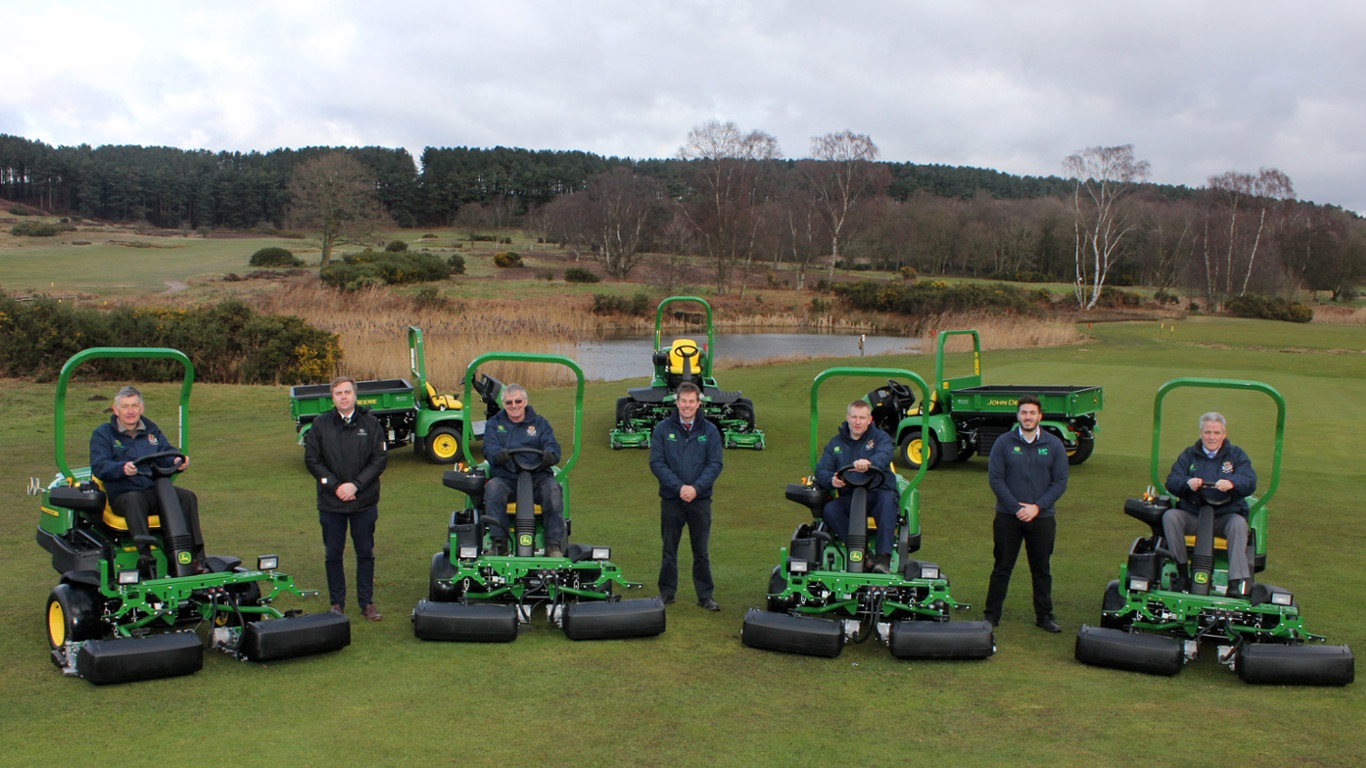 Notts (Hollinwell) will be using their new John Deere fleet to prepare the course for a Final Qualifying tournament for The Open, at Carnoustie in July 2018.