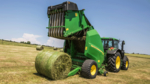 The high capacity V400 Series variable chamber round balers can handle all crop conditions from wet grass to dry, brittle straw.
