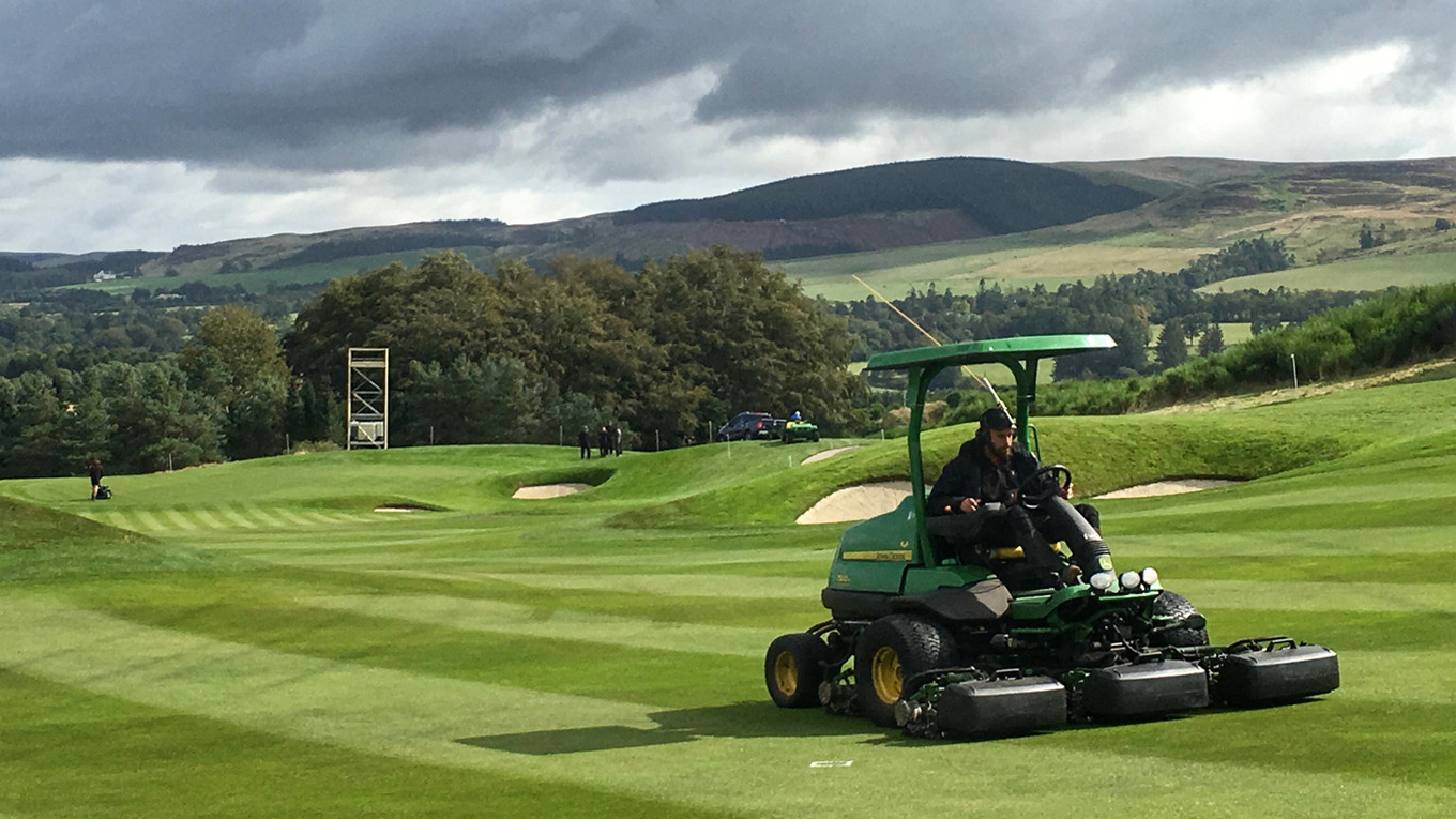 John Deere course maintenance equipment has been hard at work on all three courses at Gleneagles in advance of The 2019 Solheim Cup.