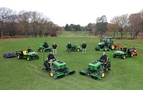Brokenhurst Manor Golf Club, John Deere and dealer Hunt Forest Group personnel with the club's new machinery fleet.