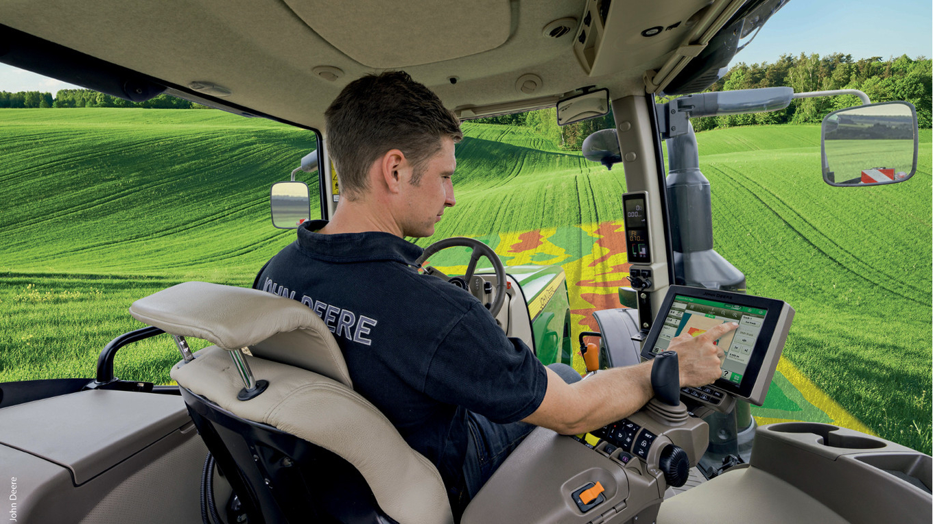 Jointly developed by Airbus and John Deere, Live NBalance offers live monitoring of nitrogen balance in the field, based on satellite images and machinery data.