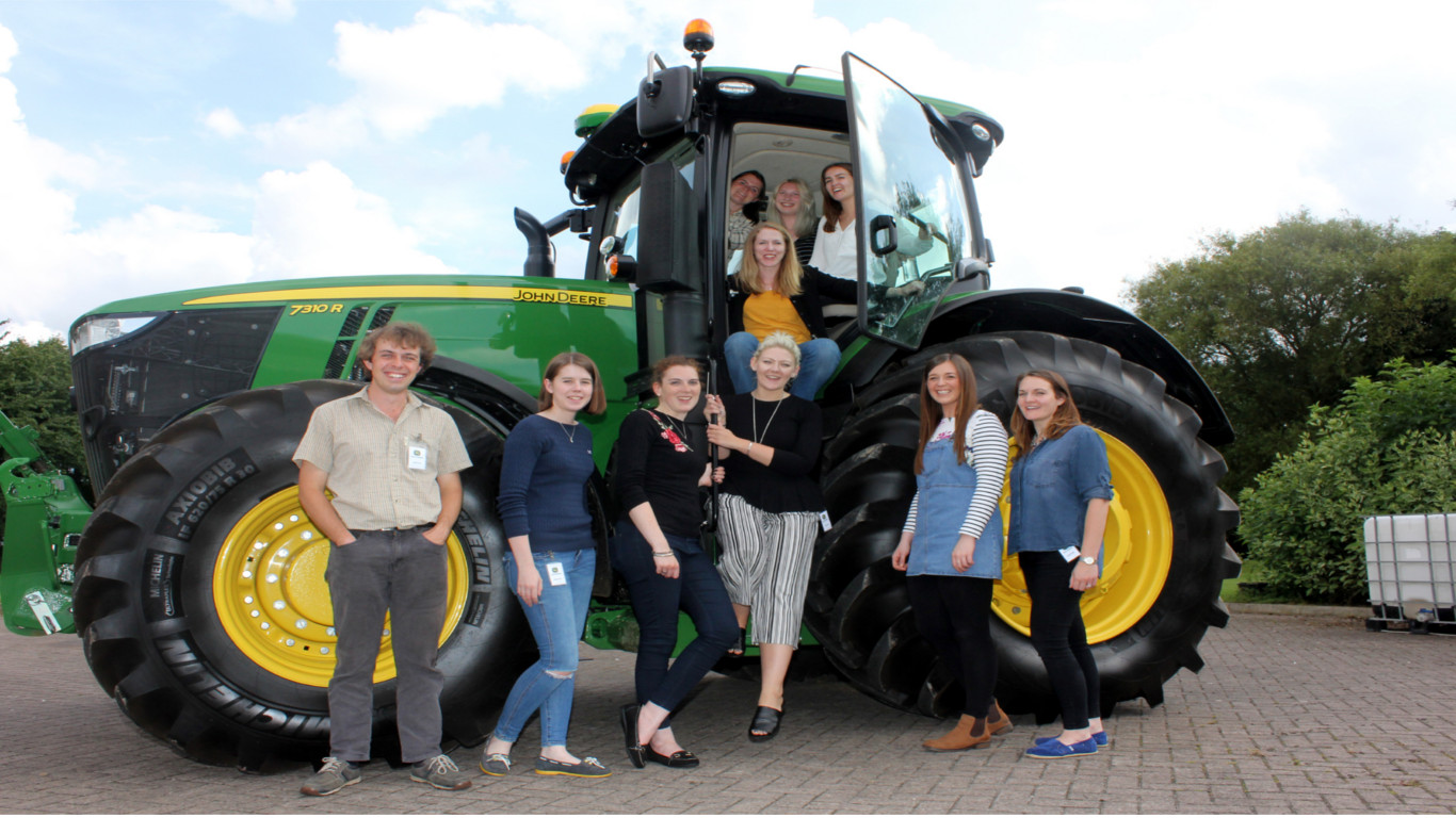 The BGAJ/John Deere Journalism Training Award 2017 course members at John Deere's UK headquarters.