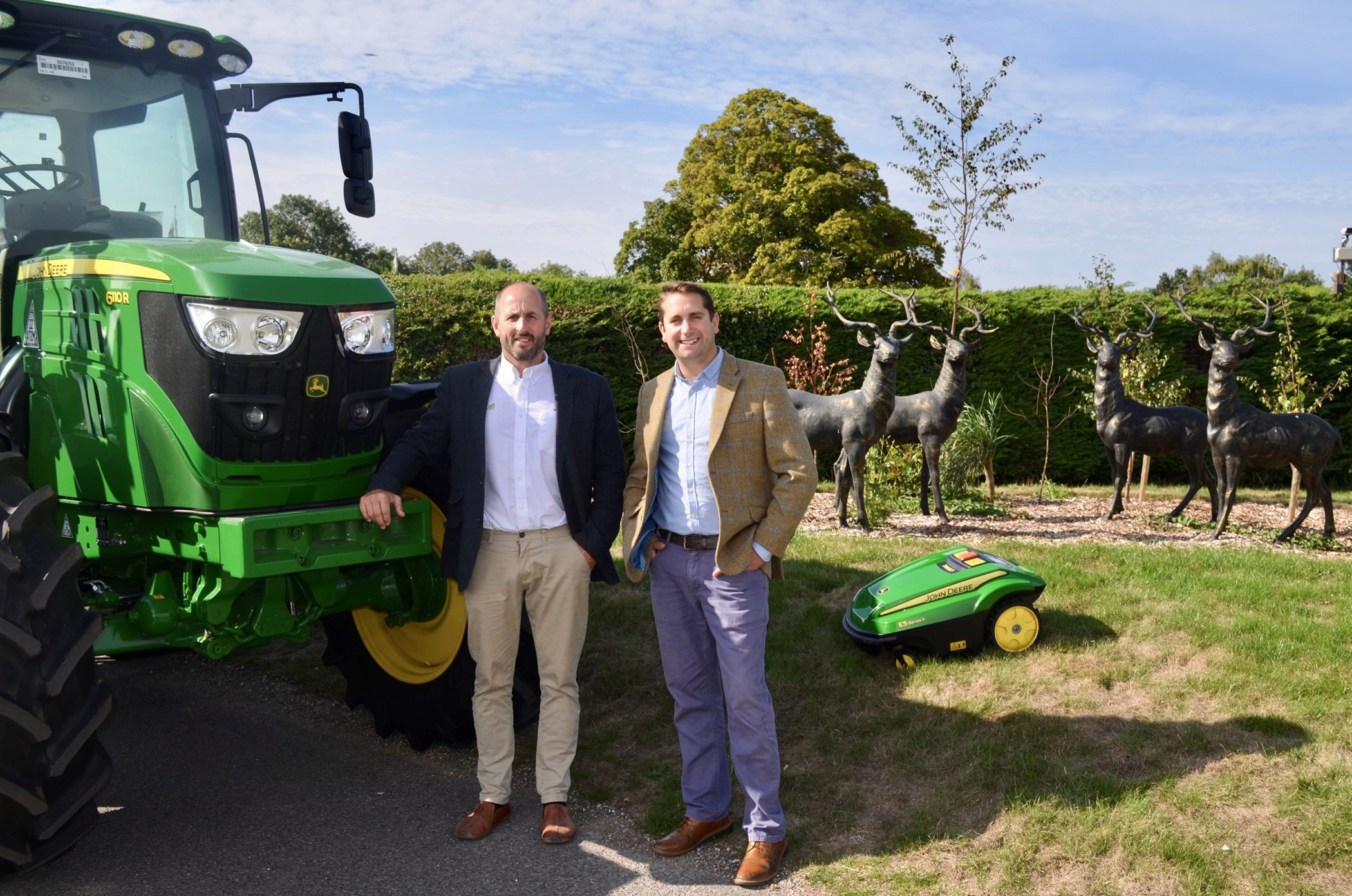 Tim Hunt (left), managing director of R Hunt Ltd and Ed Smales, managing director of New Forest Farm Machinery Ltd.