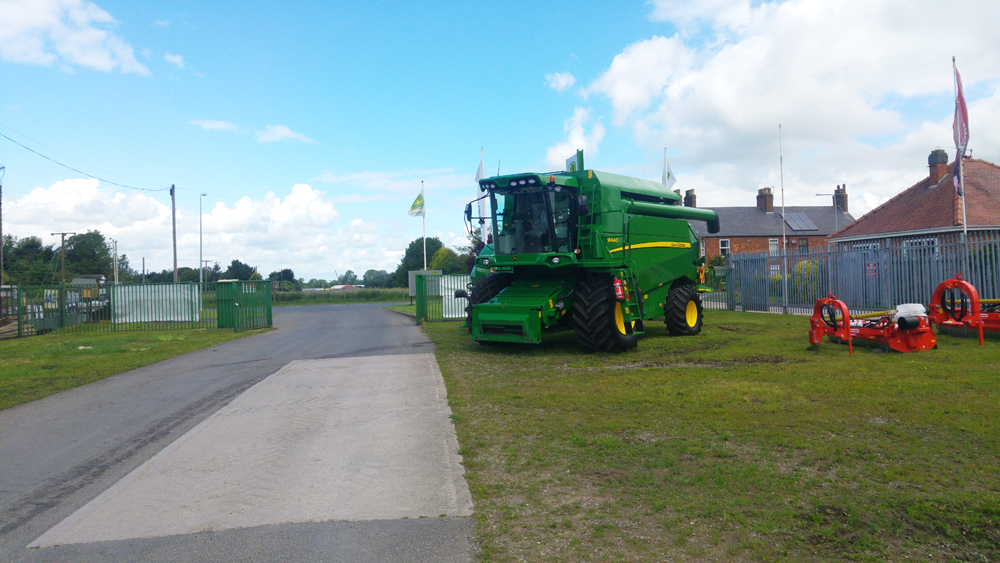 John Deere Combines on stock