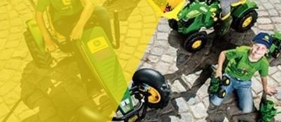John Deere Pedal & Electric Operated Tractors & Trailers